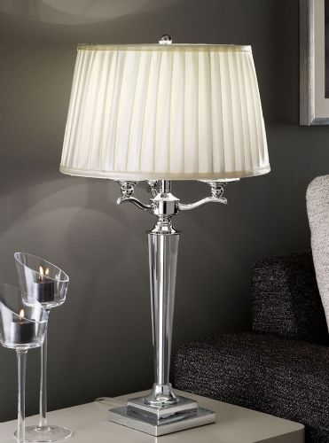 Franklite TL896 Chrome Table Lamp (Class 2 Double Insulated)